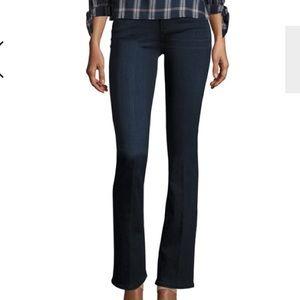 {Paige} Manhattan Mid Rise Slim Boot Cut Jeans